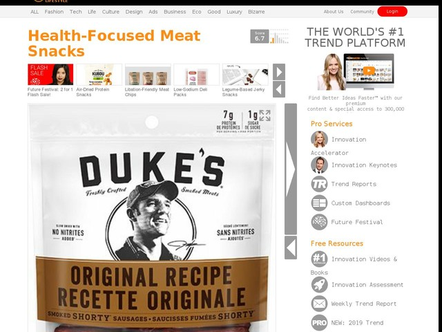 Health-Focused Meat Snacks - Duke's Smoked Meats Features Fresh and Real Ingredients (TrendHunter.com)