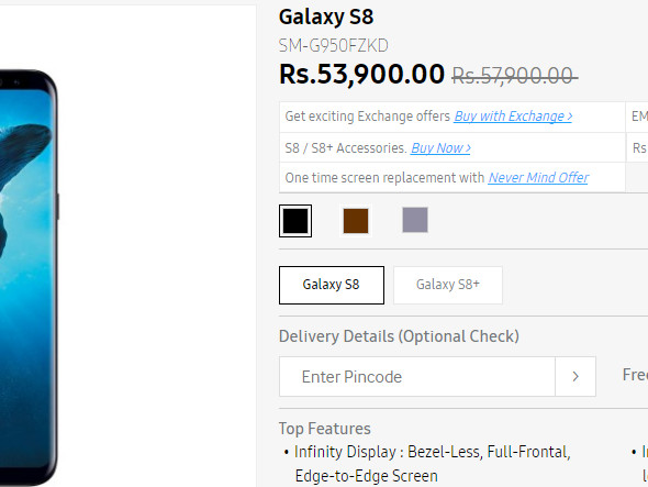 Deal: Samsung Galaxy S8 and S8 Plus on sale in India