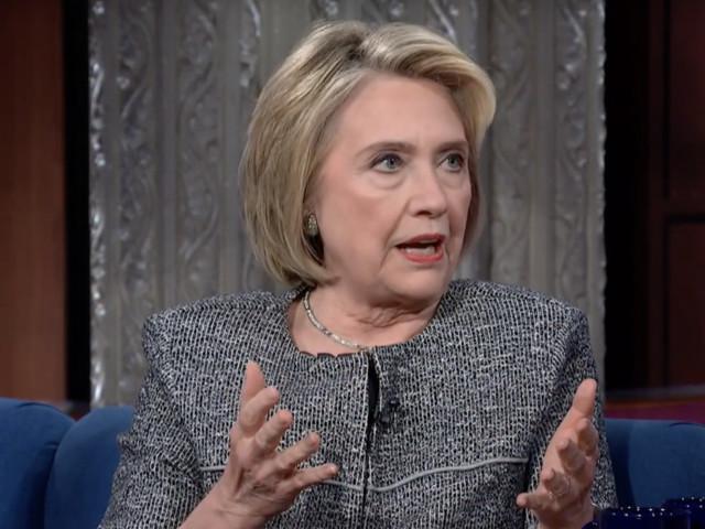 Hillary Clinton talks Trump impeachment inquiry as audience chants 'lock him up'