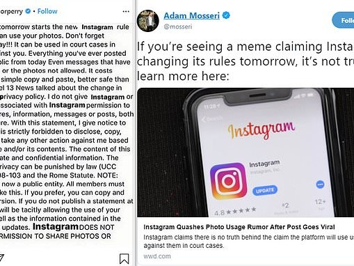Stop sharing that Instagram hoax: Celebrities fuel viral post that claims site is changing its rules