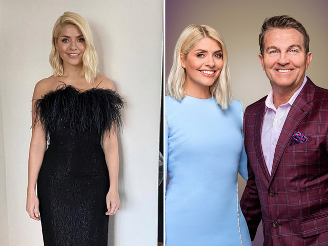 Holly Willoughby wows Take Off viewers in figure hugging black dress with flirty feather trim