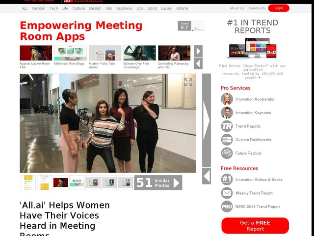 Empowering Meeting Room Apps - 'All.ai' Helps Women Have Their Voices Heard in Meeting Rooms (TrendHunter.com)