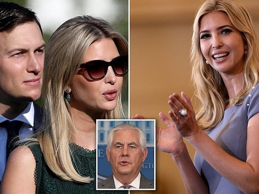 Secretary State Rex Tillerson not supporting Ivanka India