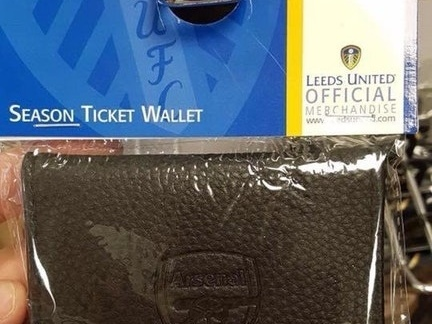 Football Tat: There's Something Slightly Amiss About The 'Official Season Ticket Wallet' On Sale In Leeds United's Club Shop (Photo)
