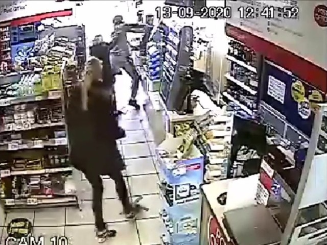 CCTV shows moment shopkeeper is attacked after asking customer to wear face mask