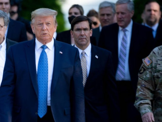 Trump got into a shouting match with a top Pentagon official after demanding 10,000 troops be deployed to the streets to quell George Floyd protests, according to reports