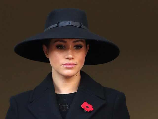 Meghan Markle dons wide-brimmed hat for Remembrance Sunday service at The Cenotaph