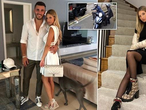 Arsenal star Sead Kolasinac's wife, 27, was caught trying to bring stun gun into UK