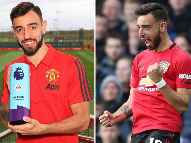Bruno Fernandes vows there's more to come after winning player of month following 'dream' Man Utd move