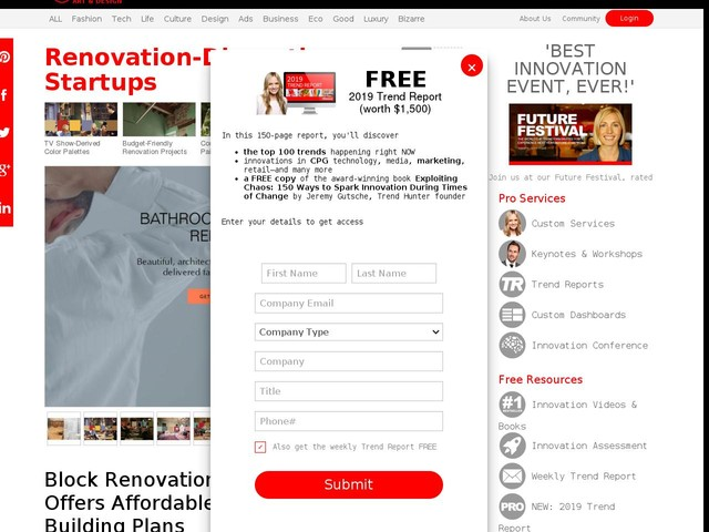 Renovation-Disrupting Startups - Block Renovation Offers Affordable Building Plans (TrendHunter.com)