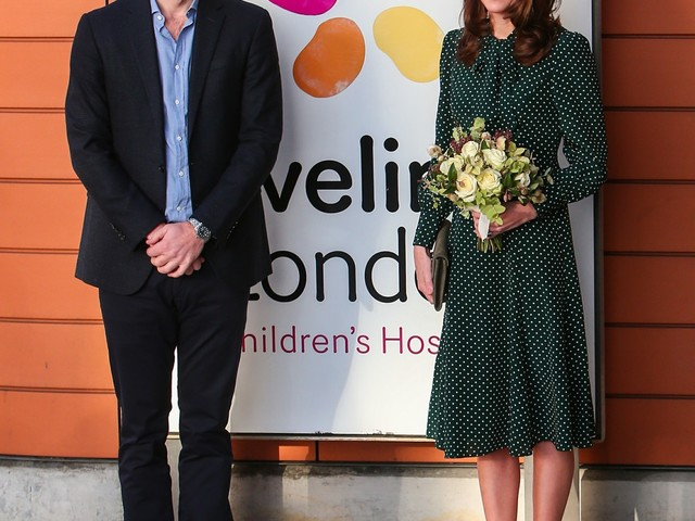 Duchess Kate wears LK Bennett to visit her new patronage, Evelina London