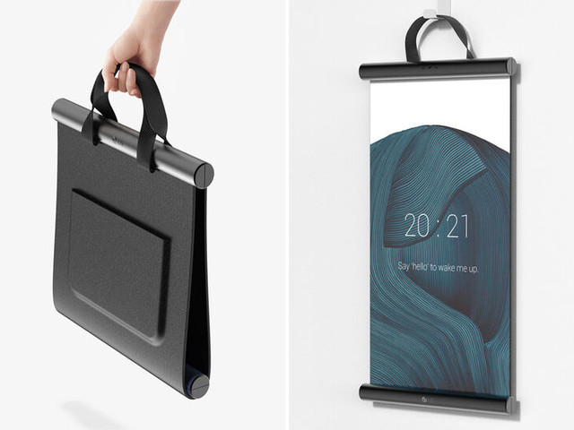Malleable Bag-Like OLED Screens - The Conceptual 'Folio' Foldable OLED Screen is Multifunctional (TrendHunter.com)