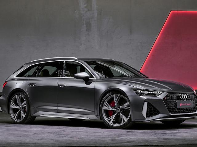 2020 Audi RS6 Avant performance estate shown in Frankfurt