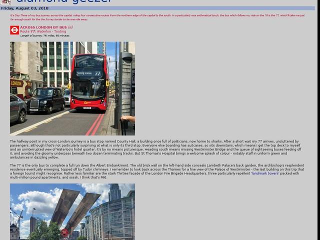 Across London by bus (77)
