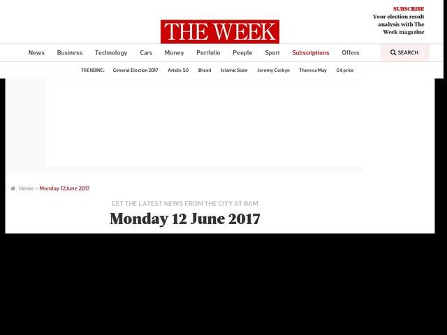 Monday 12 June 2017