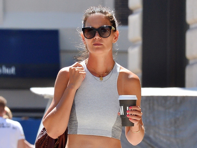 Katie Holmes Bares Toned Body in a Crop Top After a Workout