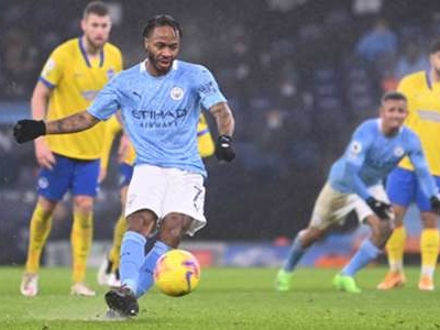 Man City star Sterling continues penalty misery with Brighton miss
