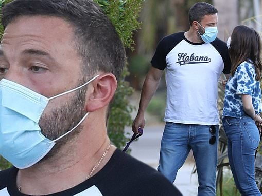 Ben Affleck shows off toned arms in clinging tee on dog walk with new flame Ana De Armas