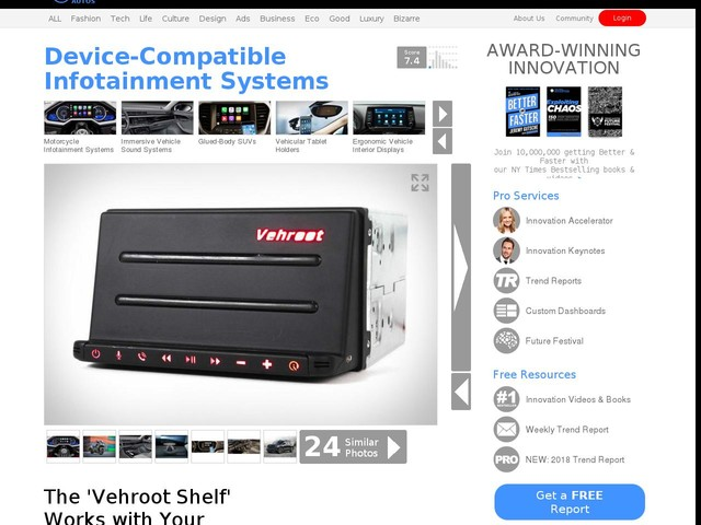 Device-Compatible Infotainment Systems - The 'Vehroot Shelf' Works with Your Smartphone or Tablet (TrendHunter.com)