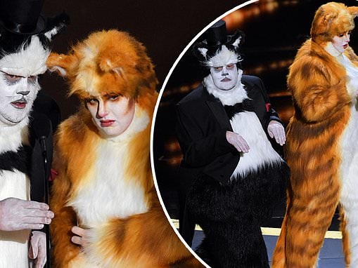 Oscars: James Corden and Rebel Wilson wear CATS costumes