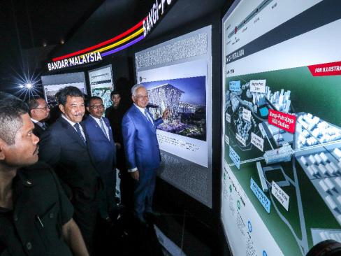 Najib unveils concept design of Kuala Lumpur-Singapore High Speed Rail stations