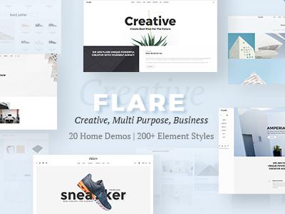 Responsive Flexible WordPress Theme   Flare (Creative)