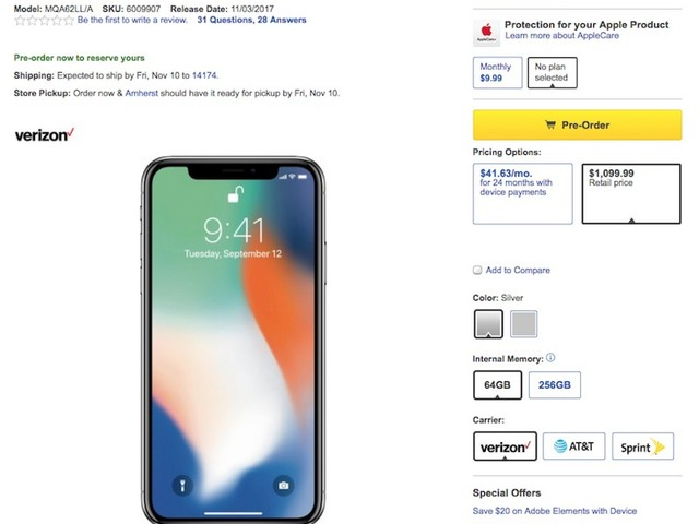 Best Buy Says iPhone X Costs $100 Extra at Full Price Because Flexibility Sometimes 'Has a Cost'