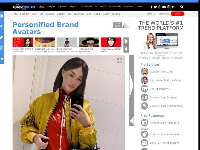 Personified Brand Avatars - The 3D Virtual Fashion Avatar 'Daisy' Helps Consumers Connect with YOOX (TrendHunter.com)