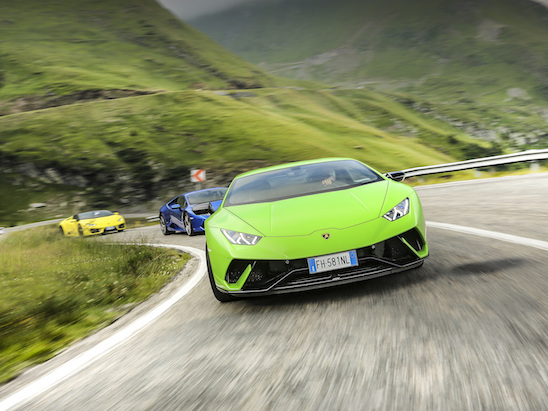 Lamborghini Took Three Huracans to the World's Best Driving Road