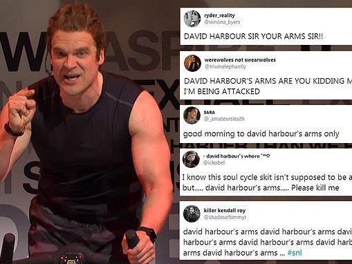 Fans can't stop talking about David Harbour's arms after he hosted Saturday Night Live