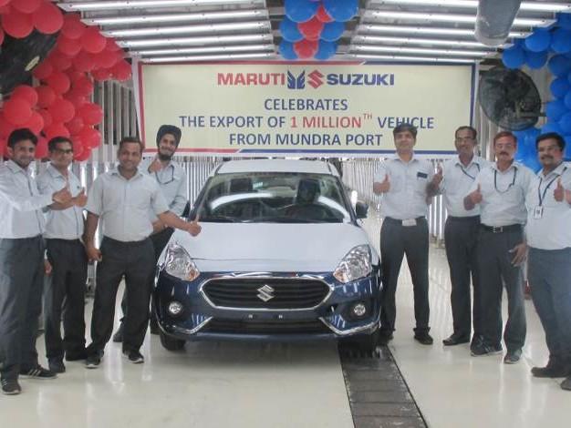 Maruti Suzuki exports its millionth car from Gujarat