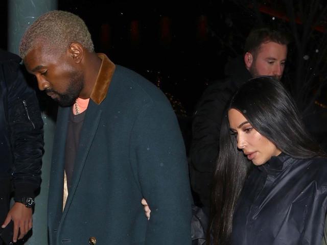 Kim Kardashian & Kanye West Head to Family Dinner in Aspen