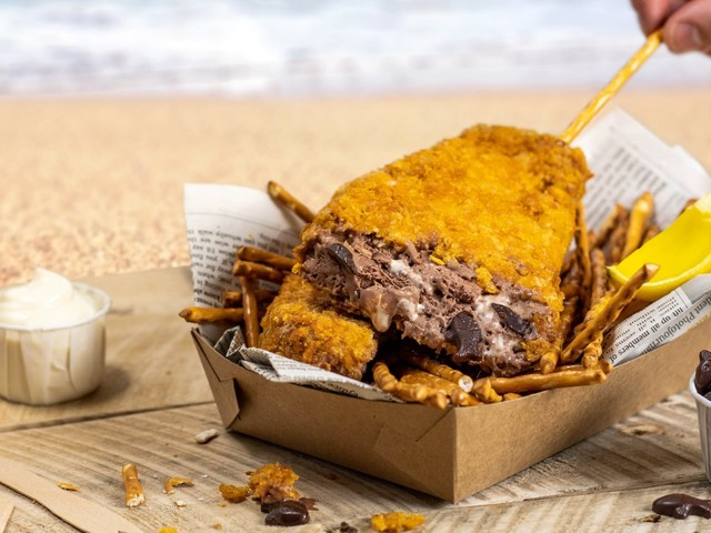 Ben & Jerry's has launched a new deep-fried ice cream that looks exactly like fish and chips