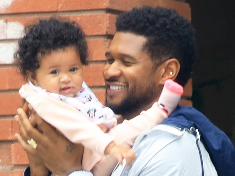 Usher's Daughter Sovereign, 8 Months, Is Adorable In Rare Photo Ahead Of Singer's 4th Child's Birth