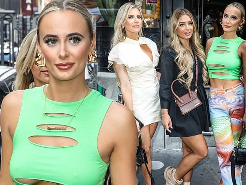 Love Island's Millie Court reunites withChloe Burrows and Lucinda Strafford for a day out