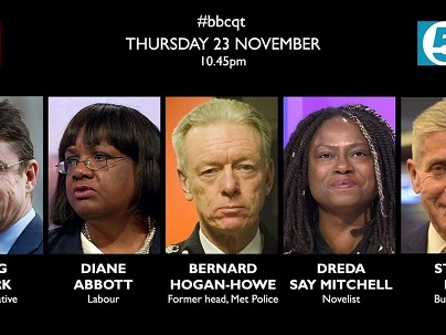 Who's On Question Time Tonight?