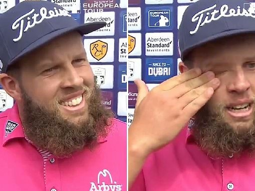 Andrew 'Beef' Johnston fights tears as he seals a place at The Open