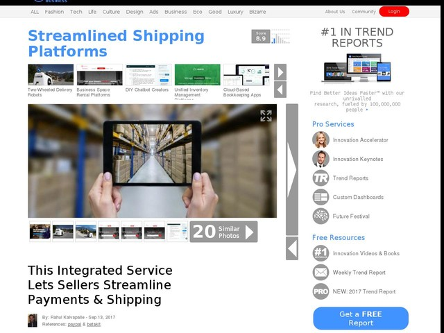 Streamlined Shipping Platforms - This Integrated Service Lets Sellers Streamline Payments & Shipping (TrendHunter.com)