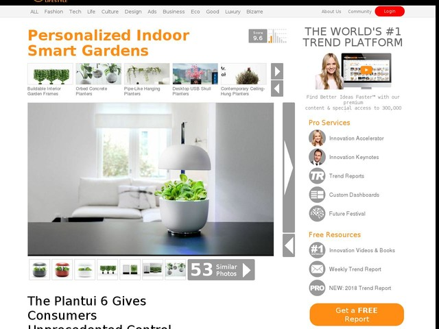 Personalized Indoor Smart Gardens - The Plantui 6 Gives Consumers Unprecedented Control Over Veggies (TrendHunter.com)
