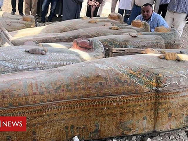 Egypt archaeologists find 20 ancient coffins near Luxor