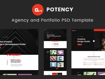 Potency Creative Agency And Portfolio Psd Template Portfolio