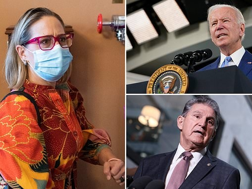 Kyrsten Sinema flees to Europe on a fundraising trip with Biden's budget in limbo