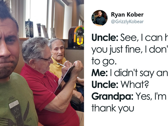 Guy Takes His Uncle And Grandpa To Get Their Hearing Aids Done, Tweets Their Hilariously Cute Adventures On The Way