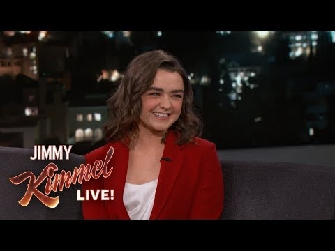 Jimmy Kimmel Grills Maisie Williams Over Game Of Thrones Ending — Which She Already Leaked To One Person!