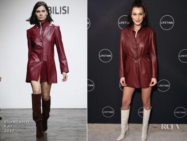 Bella Hadid In Situationist, Gigi Hadid In Versace & Yolanda Hadid In David Koma – 'Making A Model With Yolanda Hadid' New York Premiere