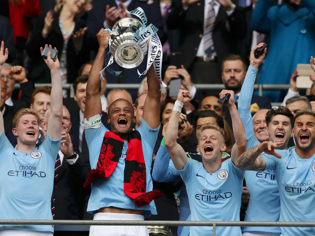 Vincent Kompany signs off in style after Man City's treble success