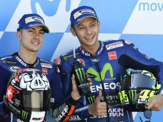 MotoGP 2017: Rossi To Start Third At Aragon GP As Vinales Takes Pole