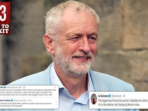 Jeremy Corbyn sits on the fence AGAIN over Brexit