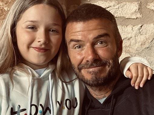 David Beckham shares cute snap of himself and daughter Harper twinning in matching Friends hoodies