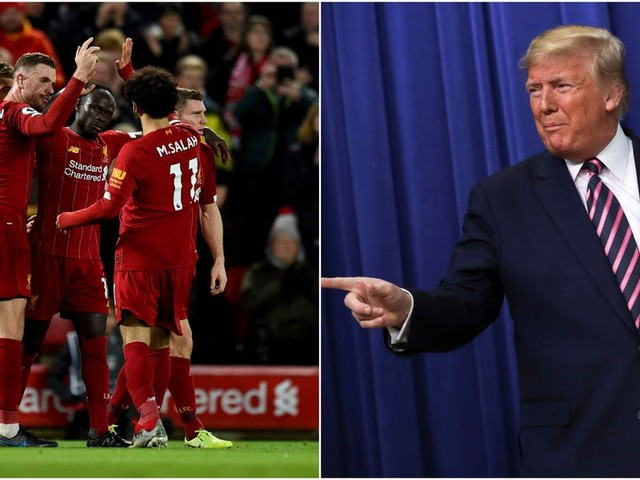 Liverpool FC is running away with the English Premier League and Britain's most prominent football pundit joked that the only thing that can stop it is Donald Trump and the threat of World War 3